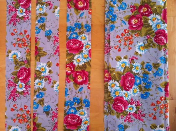 Dirndlschürze Stoffzuschnitte Blumenwiese