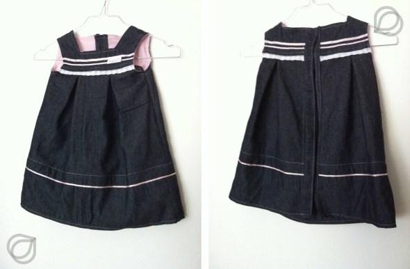 Kjole Jeanskleidchen - Vorder- & Rückseite