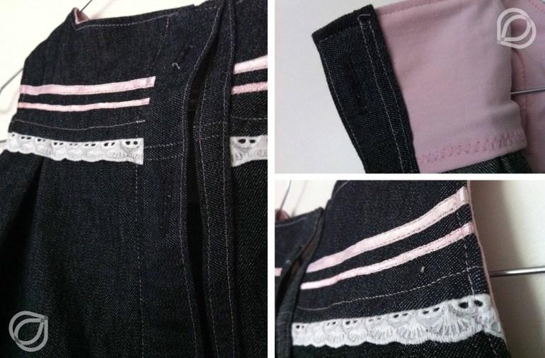 Kjole Jeanskleidchen - Applikationen
