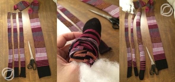 Socken-Arme-füllen